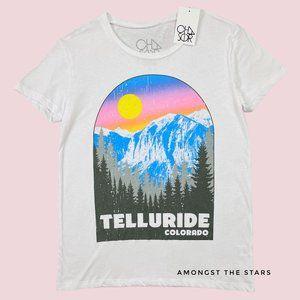 Chaser Telluride Colorado Mountains White T-Shirt